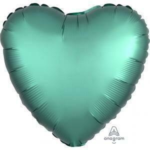 "17"" SATIN HEART SOLID JADE"