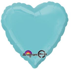 18 - METALLIC HEART SOLID MINT GREEN