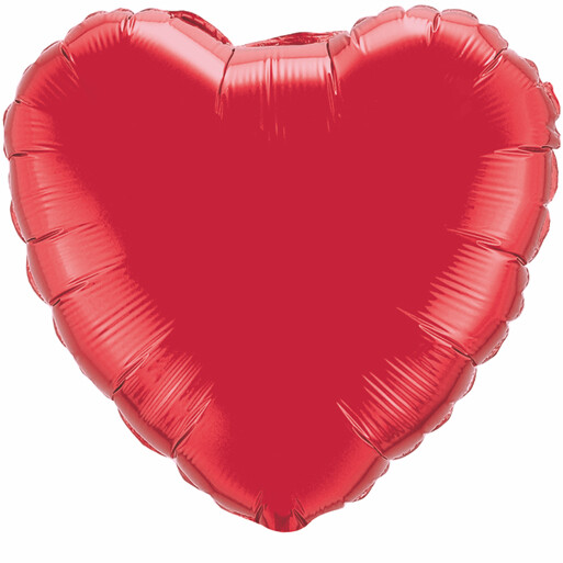 36 - METALLIC HEART SOLID - RUBY RED