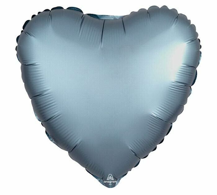 "17"" SATIN HEART SOLID STEEL BLUE"