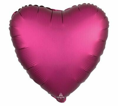 17 - SATIN HEART SOLID POMEGRANATE