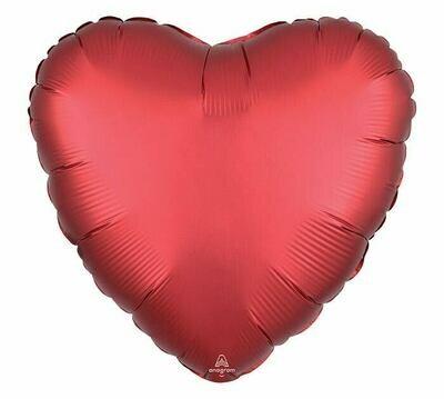 17 - SATIN HEART SOLID SANGRIA