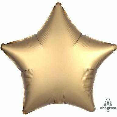 SATIN SOLID STAR BALLOON GOLD