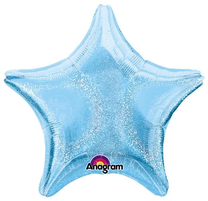"17"" DAZZLER STAR SOLID LIGHT BLUE"