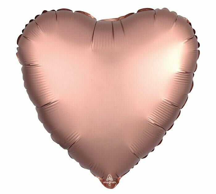 """17"""" SATIN HEART SOLID ROSE COPPER"""