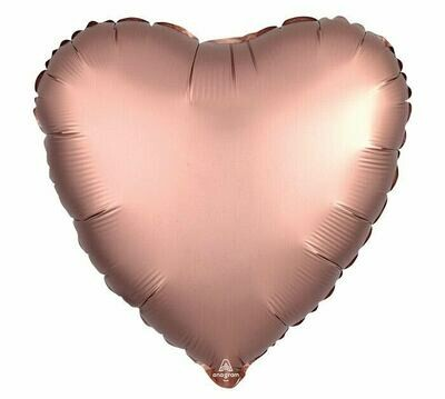 17 - SATIN HEART SOLID ROSE COPPER