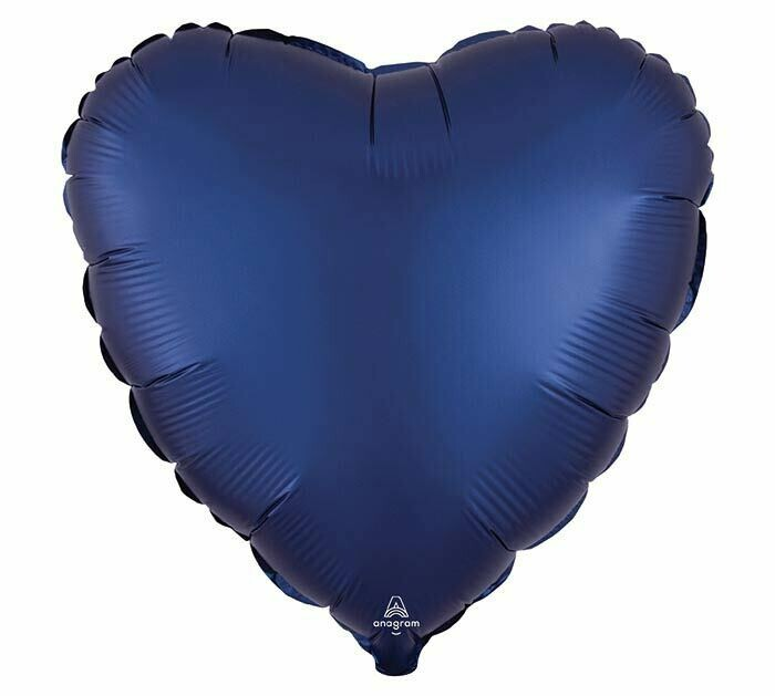 "17"" SATIN HEART SOLID NAVY"