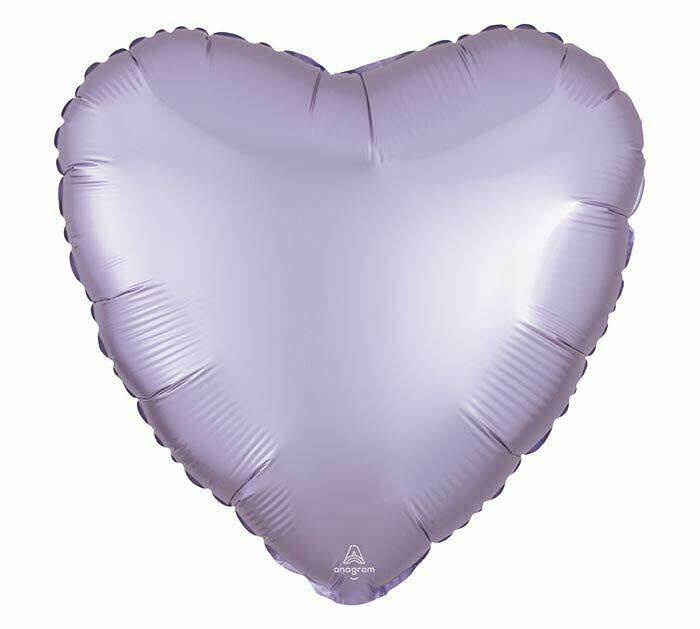 17 - SATIN HEART SOLID LAVENDER