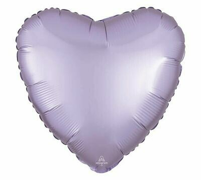 17 - SATIN HEART SOLID LAVENDER