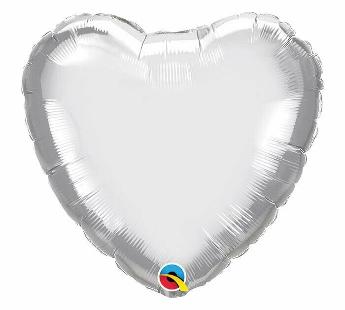 20 - CHROME SOLID HEART SILVER