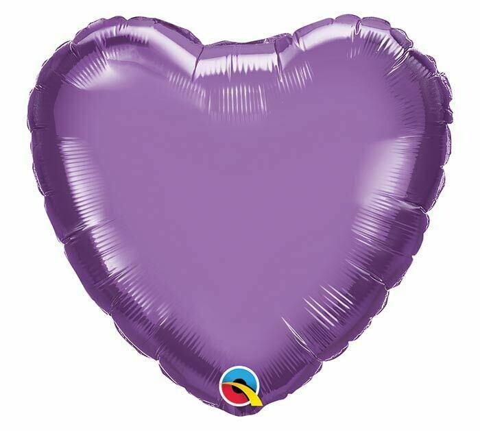 "20"" CHROME SOLID HEARTS PURPLE"
