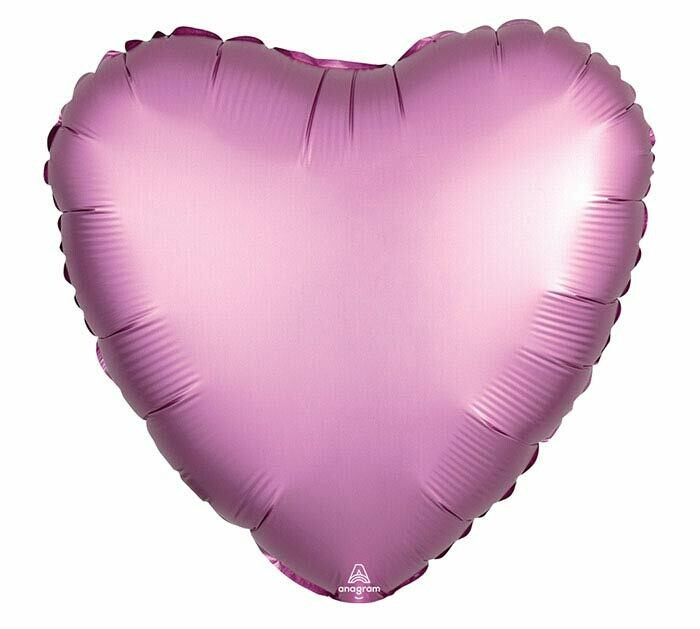 "17"" SATIN HEART SOLID FLAMINGO"