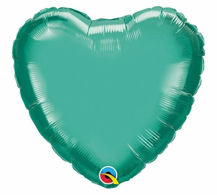 20 - CHROME SOLID HEART GREEN