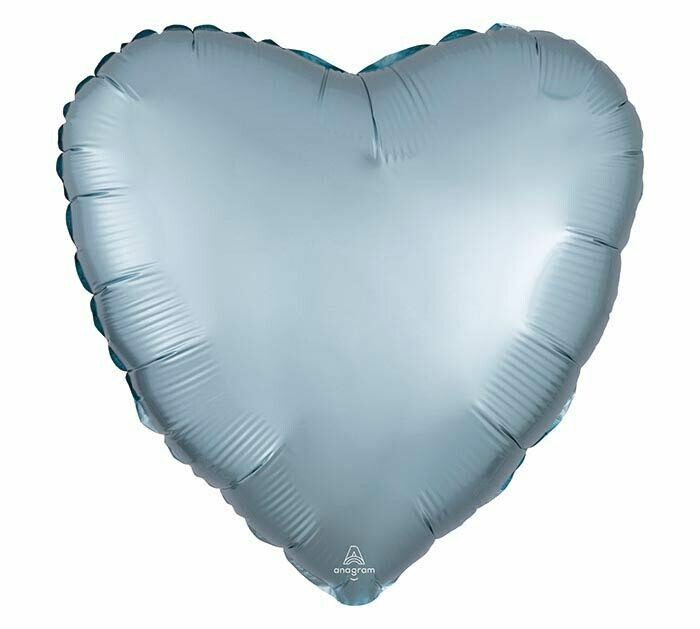 17 - SATIN HEART SOLID PASTEL BLUE