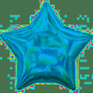 "18"" IRIDESCENT STAR BLUE"