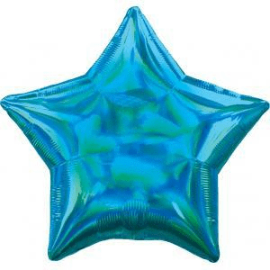 17 - IRIDESCENT HOLOGRAPHIC BLUE STAR
