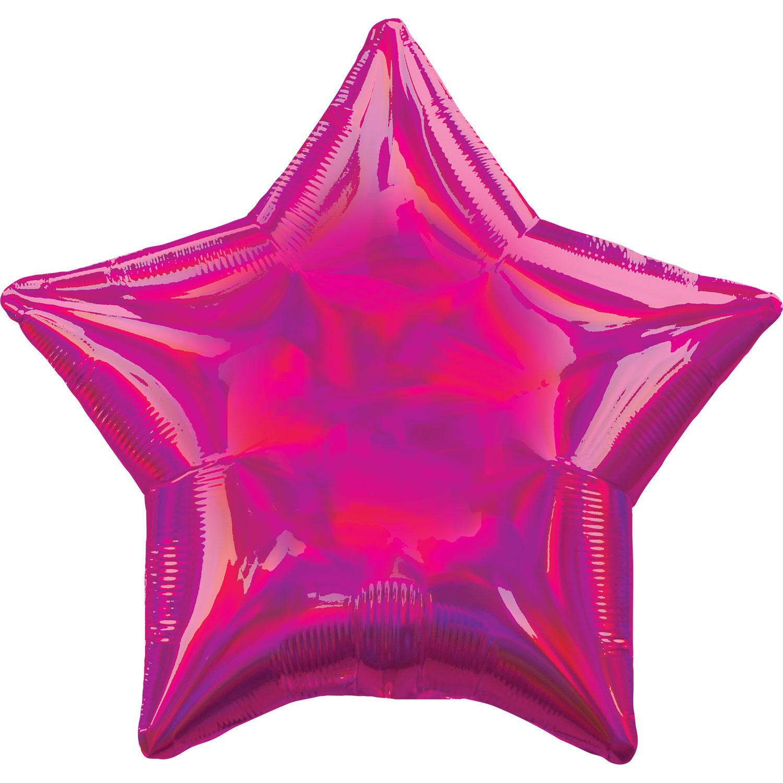 17 - IRIDESCENT HOLOGRAPHIC FUSCHIA STAR