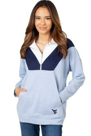 WVU COLORBLOCK 1/4 ZIP - UG APPAREL
