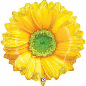 XL BRIGHT BLOOMS YELLOW FLOWER BALLOON