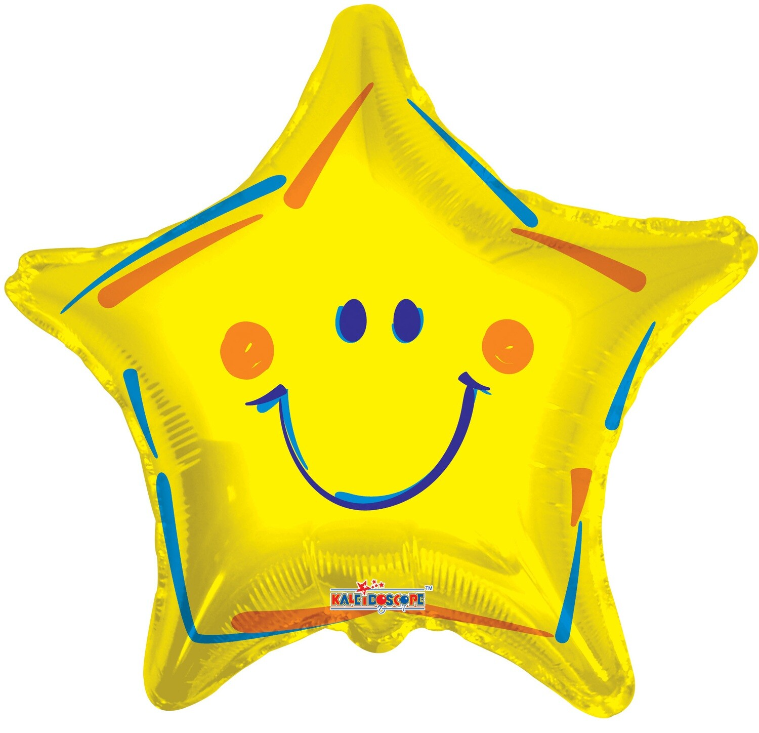 """18"""" STAR W/SMILEY FACE GOLD"""
