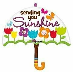 "30"" SENDING YOU SUNSHINE UMBRELLA W/FLOWERS"