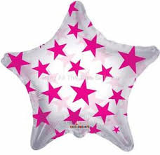 22 -  CLEAR WITH STARS PINK