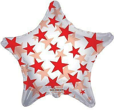 22 -  CLEAR WITH STARS RED