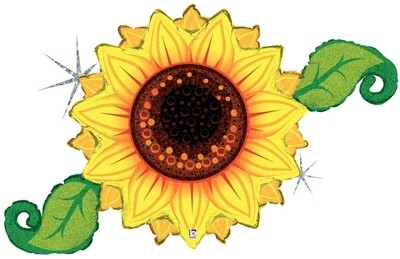 46 - HOLOGRAPHIC SUNFLOWER