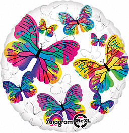 RAINBOW BUTTERFLIES BALLOON