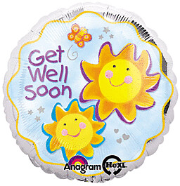 GET WELL SOON SMILING SUNS BALLOON