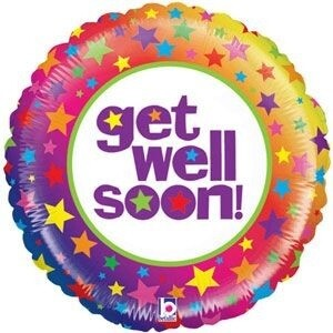 "21"" BRIGHT GET WELL SOON STARS"