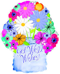 18 - FLORAL GET WELL WISHES  JAR