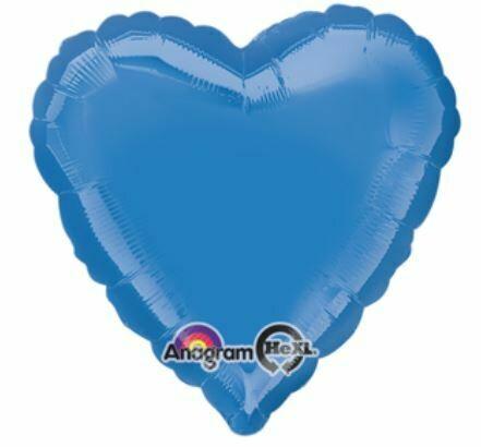 18 - METALLIC SOLID PERIWINKLE HEART