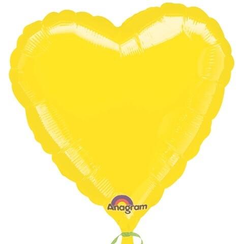 18 - METALLIC SOLID YELLOW HEART