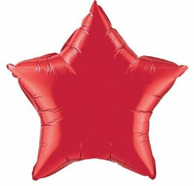 18 - METALLIC SOLID LIGHT BURGANDY STAR