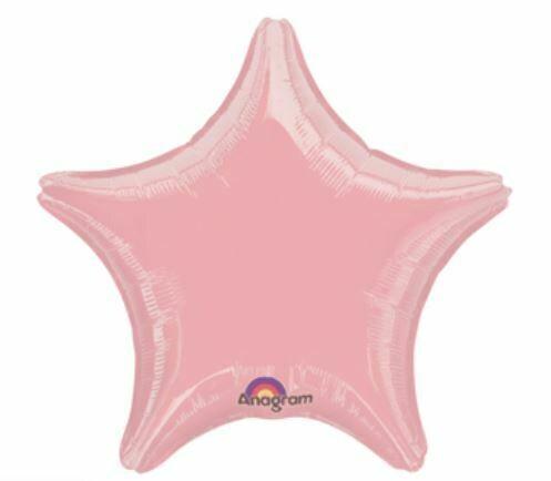 18 - METALLIC SOLID STAR PASTEL PINK