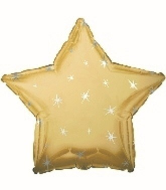 18 - METALLIC STAR WITH STARS GOLD
