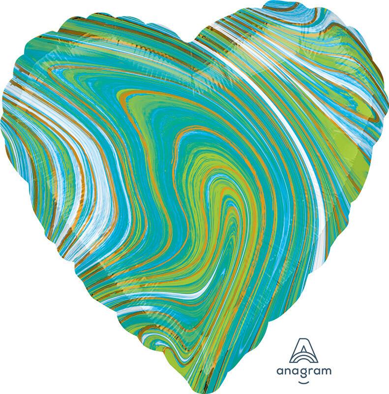 18 - MARBLE HEART GREEN