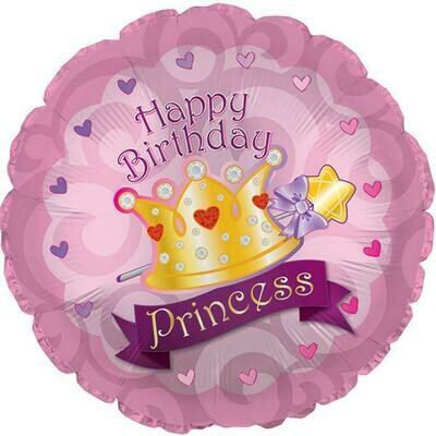 17 - PINK BIRTHDAY PRINCESS WITH CROWN