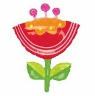 33 - JUMBO RED PINK ORANGE FLOWER