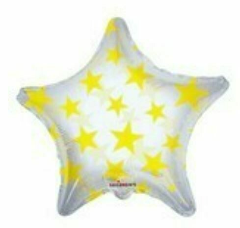 """22"""" CLEAR W/STARS YELLOW STARS"""