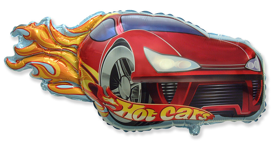 31 - RED AND BLACK HOT CAR