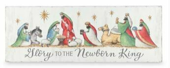 GLORY NATIVITY WALL HANG