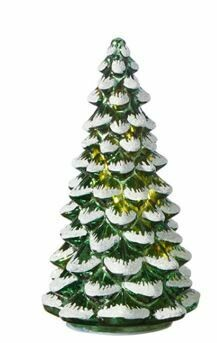 10 - LIGHTED SNOWY GLASS TREE