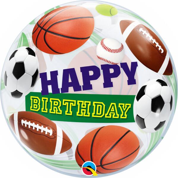 22 - SPORTS BALLS BIRTHDAY BUBBLE