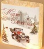 6 - FROSTED TRUCK & TRACTOR LUMINARY