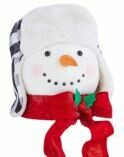 14.75 SNOWMAN HEAD WITH WHITE AND BLACK HAT TREE TOPPER