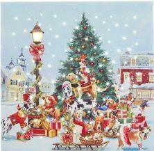 14 - DOGS OF CHRISTMAS LIGHTED PRINT
