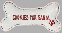 CERAMIC COOKIES FOR SANTA TRAY FROM PET