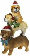 STACK SANTA PAWS FIGURINES